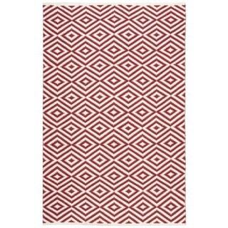 Nourison Mesa Geometric Red Rug (7'6 x 9'6)