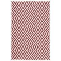Nourison Mesa Geometric Red Rug (7'6 x 9'6) - 7'6 x 9'6