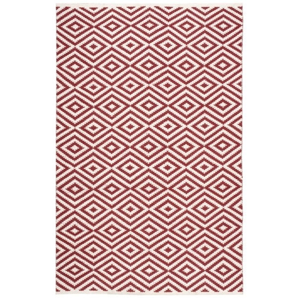 Nourison Mesa Geometric Red Rug - 7'6 x 9'6