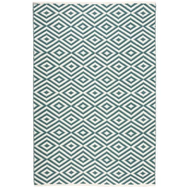 Nourison Mesa Geometric Teal Rug (7'6 x 9'6) - 7'6 x 9'6