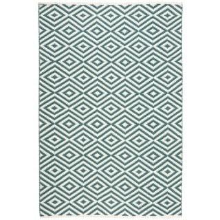 Nourison Mesa Geometric Teal Rug (7'6 x 9'6)