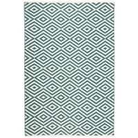 Nourison Mesa Geometric Teal Rug - 7'6 x 9'6