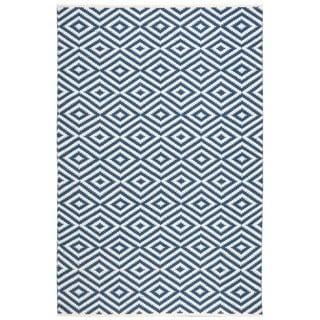 Nourison Mesa Geometric Navy Rug (7'6 x 9'6)