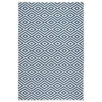 Nourison Mesa Geometric Navy Rug - 7'6 x 9'6