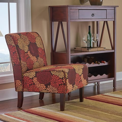 Porch & Den Pihl Autumnal Fabric Button Tufted Lounge Chair