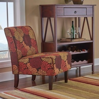 Porch & Den Pihl Autumnal Fabric Button Tufted Lounge Chair