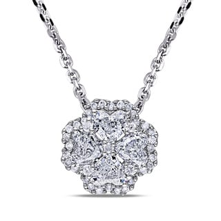 Miadora Signature Collection 14k White Gold 4/5ct TDW Diamond Necklace (G-H, I1)