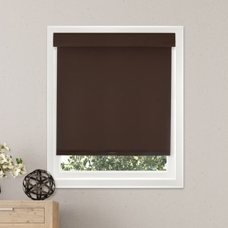 Chicology Free-Stop Cordless Roller Shade Room Darkening Fabric Thermal Mountain Chocolate 23-inch x 64-inch )