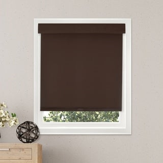 Chicology Free-Stop Cordless Roller Shade, Mountain - Thermal, Room Darkening - Mountain Chocolate