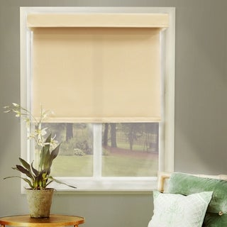 Chicology Free-Stop Cordless Roller Shade, Mountain - Thermal, Room Darkening - Mountain Almond