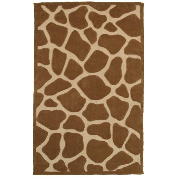 LNR Home Fashion Natural Tan Animal-print Rug (5'3 x 7'5)