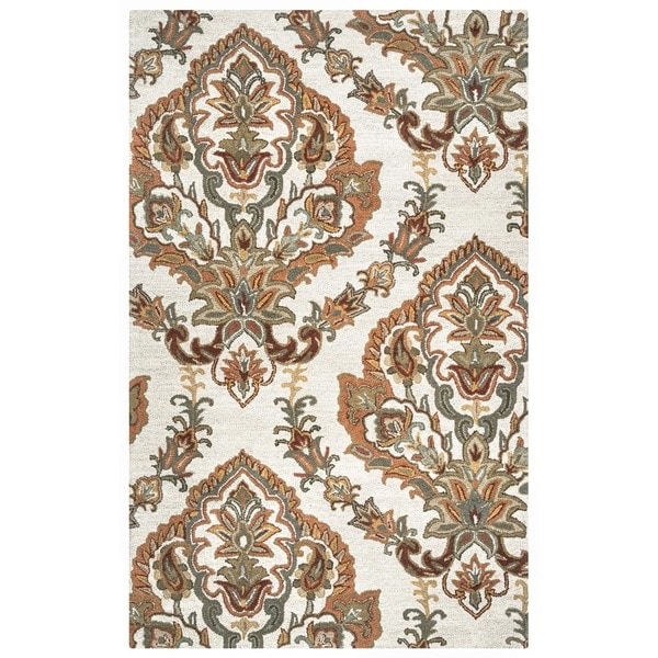 Rizzy Home Ashlyn Collection Hand-tufted Wool Accent Rug - 5' x 8'