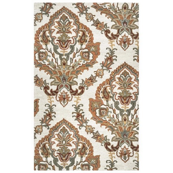 Rizzy Home Ashlyn Hand-tufted Beige New Zealand Wool Blend Area Rug - 9' x 12'