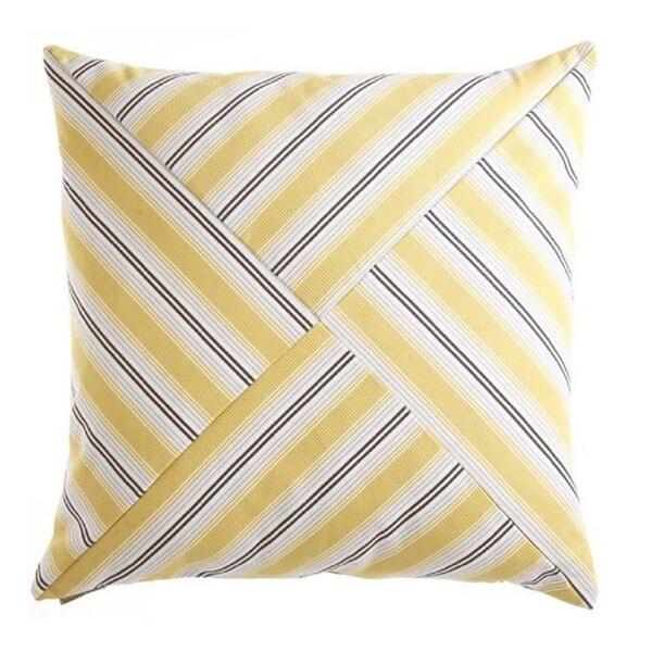 Ottoman Stripe Decorative Down Fill Throw Pillow