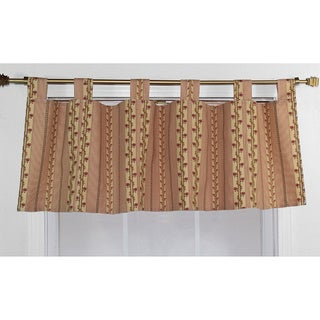 Flemming Red Stripe Cotton Tab Valance