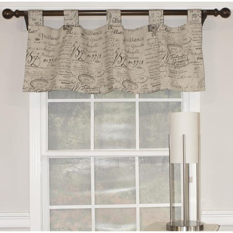 """RLF Home French Script Tab 46"""" Window Valance - Fossil"""
