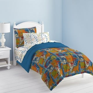 Shop Dream Factory Dinosaur Blocks 7 Piece Bed In A Bag With Sheet Set    Free Shipping On Orders Over $45   Overstock.com   8625220