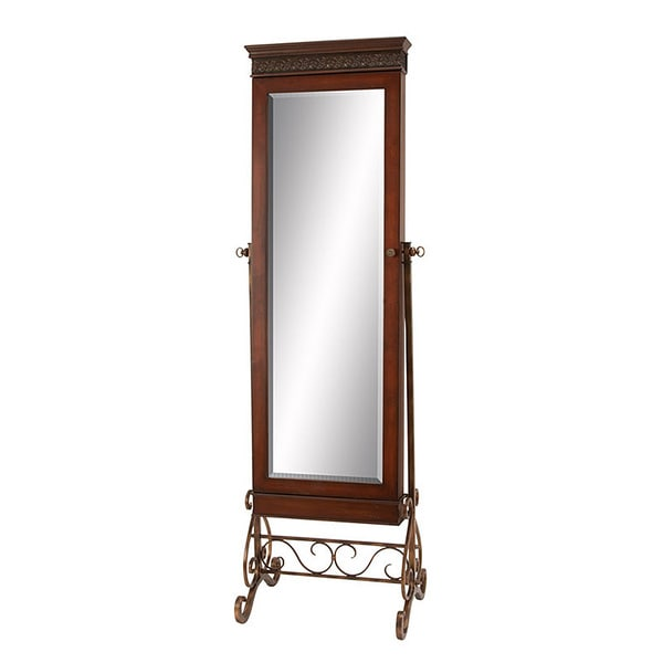 Antique brown traditional floor length standing mirror for Vintage floor length mirror