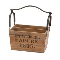 The Gray Barn Jartop Stamped Letters Wooden Magazine Holder
