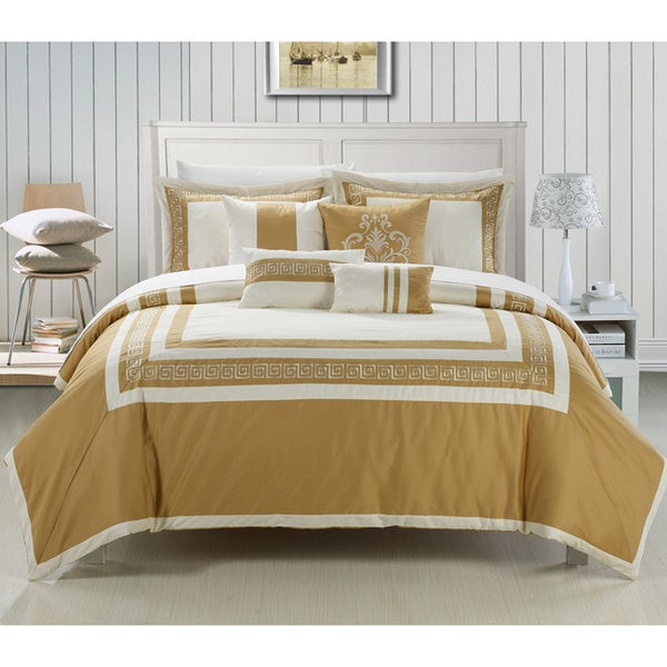 venice 7 piece cotton comforter set free shipping today 15890717. Black Bedroom Furniture Sets. Home Design Ideas