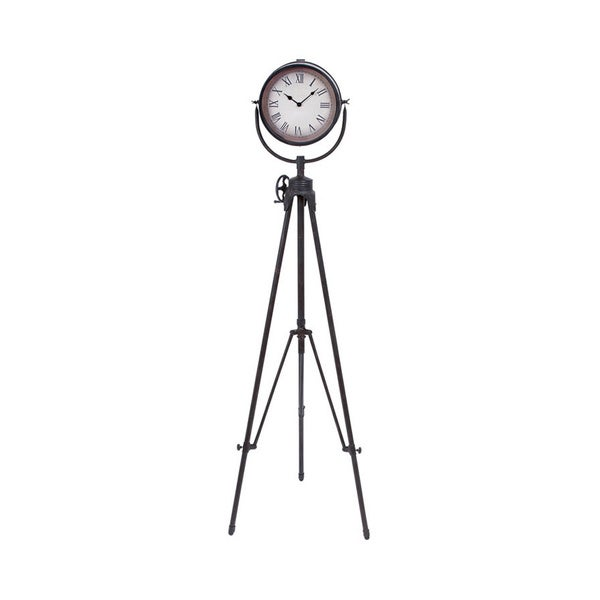 Metal Tripod Standing Wall Clock