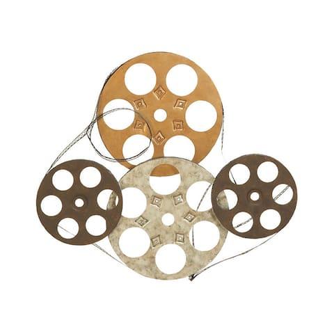 Carbon Loft Priestley Four Film Reels Metal Wall Decor