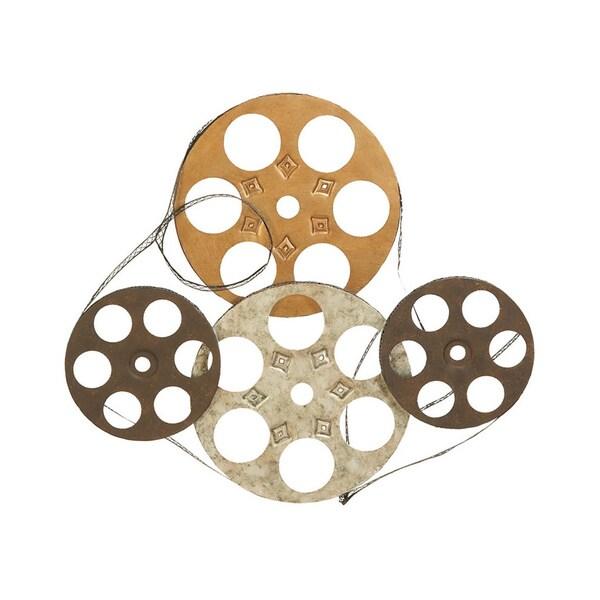 Four Film Reels Metal Wall Decor