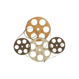 Four Film Reels Metal Wall Decor