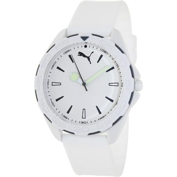 Puma Men's White Silicone Analog Quartz Watch