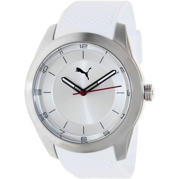 Puma Men's White Plastic Analog Quartz Watch