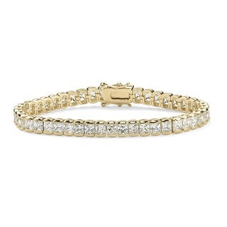 Goldplated Emerald-Cut Cubic Zirconia Tennis Bracelet (7.5-Inch)