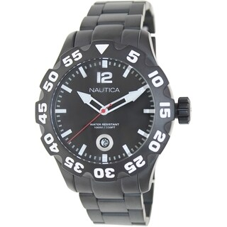 Nautica Men's Black Stainless Steel Quartz Watch