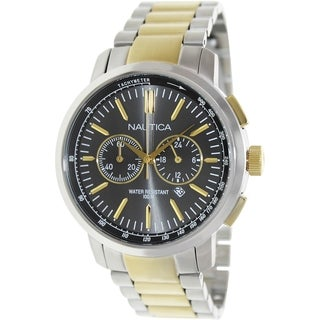 Nautica Men's Two-tone Stainless Steel Quartz Watch with Date Display