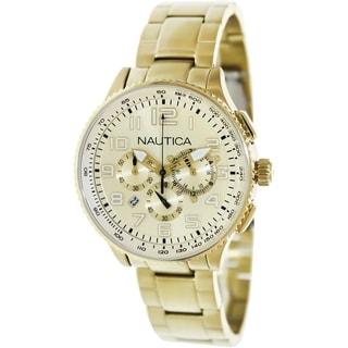 Nautica Women's Gold-Tone Stainless Steel Quartz Watch