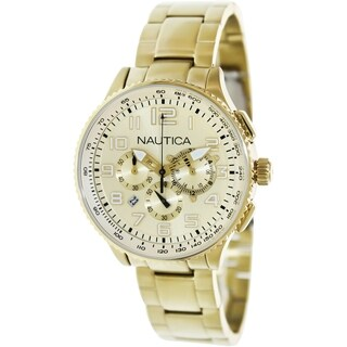 Nautica Women's Gold-Tone Stainless Steel Quartz Watch