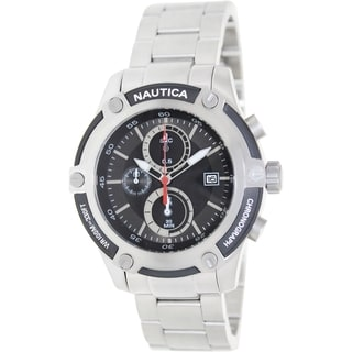 Nautica Men's Silver Stainless Steel Quartz Watch