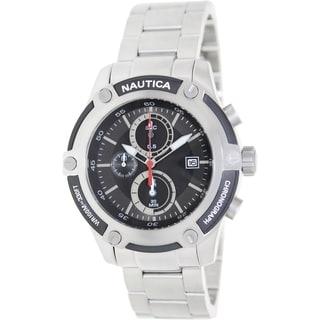 Nautica Men's Silver Stainless Steel Quartz Watch