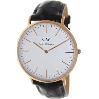Daniel Wellington Men's York Brown Leather Quartz Watch