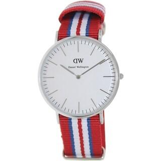 Daniel Wellington Men's Exeter Multi-color Nylon Quartz Watch