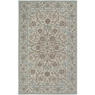 Rizzy Home Ashlyn Hand-tufted Aisling Beige Wool Blend Abstract Area Rug (3' x 5')