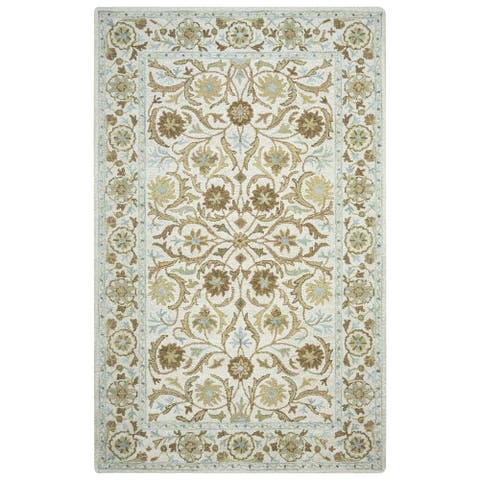 Crypt Collection Light Blue Border Rug