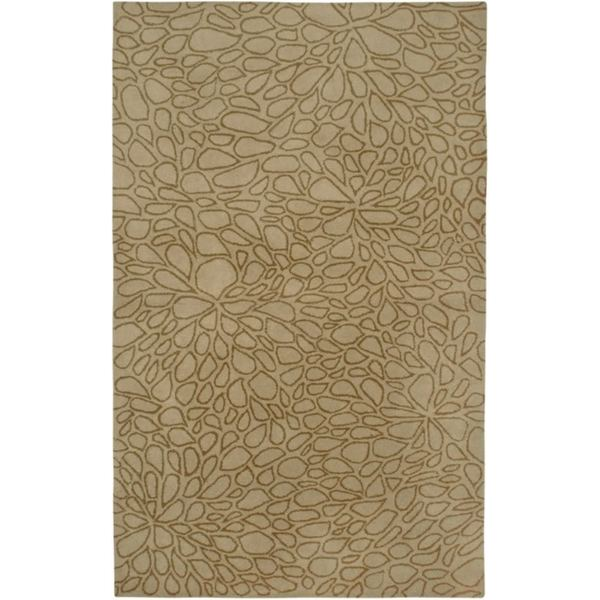 Hand-Tufted Handicraft Imports Designer Trends Light Gold Wool Area Rug - 9' x 12'