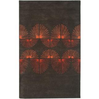 Hand-tufted Light Grey Wool Area Rug (9' x 12')