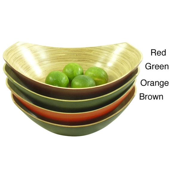 Bamboo Oval Bowl and Server 2-piece Set (Vietnam)