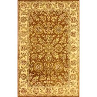 nuLOOM Handmade Traditional Persian Brown Wool Rug (5' x 8')