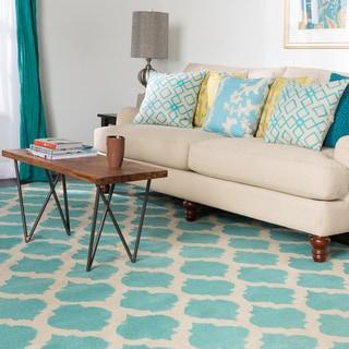 Hand-woven Dean Moroccan Trellis Geometric Flatweave Wool Rug (8' x 11')