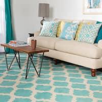 Hand-woven Dean Moroccan Trellis Geometric Flatweave Wool Area Rug - 8' x 11'