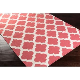 Hand Woven Taylor Moroccan Trellis Geometric Flatweave Wool Rug (2' x 3')