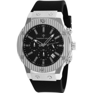 Christian Van Sant Men's Monarchy Black Dial Water-resistant Watch