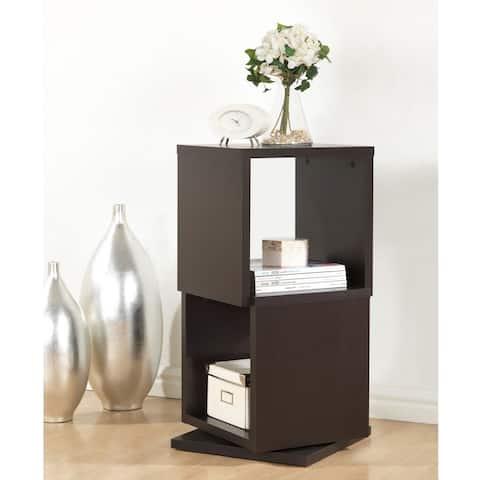 Baxton Studio Ogden Dark Brown/ Espresso 2-level Rotating Modern Bookshelf